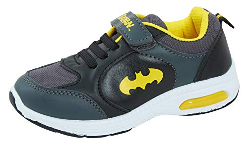 Lora Dora DC Comics Jungen Batman Light Up Sportschuhe, Schwarz - Schwarz - Größe: 27 EU