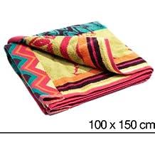 Desigual toalla de playa grande de arco iris, algodón, ...