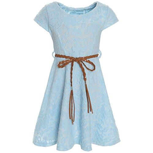 en Kleid Peticoat Fest Freizeit Sommer-Kleider Kostüm 21228 Hellblau Größe 104 ()