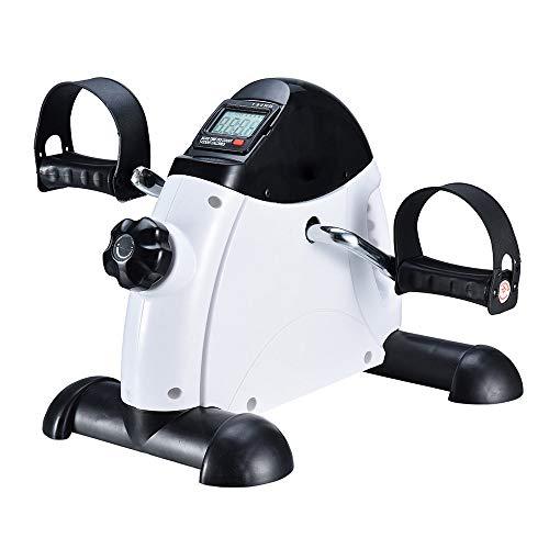 LANGYINH Tragbares Mini-Heimtrainer, Pedal Exerciser, Medical Peddler mit elektronischer Anzeige und Griff, Beinarm und Knie-Genesungsgerät (Bike Peddler)