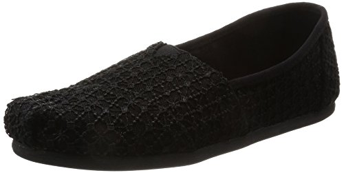 Espadrilles, Schwarz (Black Crochet Lace), 39 EU ()