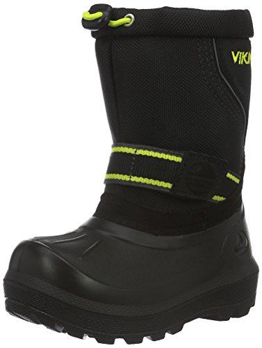 Viking Unisex-Kinder Stalis Schneestiefel Schwarz (Black/Lime 288)