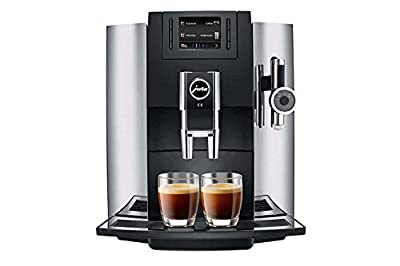 Jura E8 - coffee makers (freestanding, Espresso machine, Coffee, Coffee beans, Ground coffee, Coffee, Espresso, Hot milk, Hot water, Latte macchiato, Ristretto, Black, Chrome)