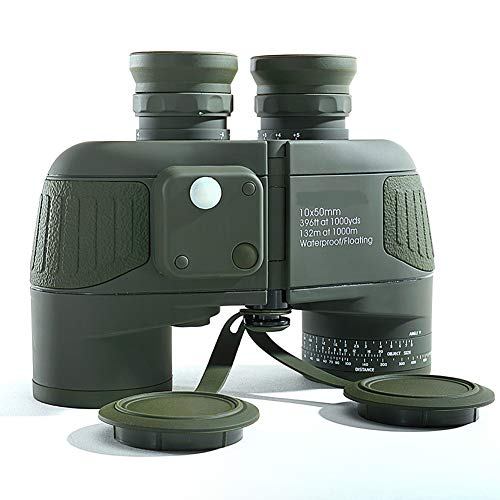 KAR Fernglas, 10x50 HD Marine-Fernglas Vergrößern Entfernungsmesser Kompass Teleskopokulares Wasserdicht Stickstoff