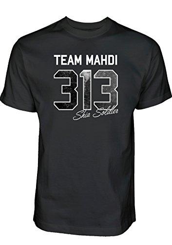 Ashura Tshirt Team Mahdi 313 Shia Soldier T-Shirt Muharram Shirt Schia-Shop Schiitische Shia Islam Kleidung (XL)