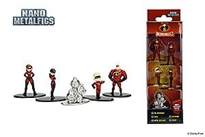 Jada- Nano MetalsFig Pack 5 Figuras Disney Los Increibles 2, (JADA99867)