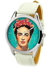 HMP - Reloj de pulsera unisex de cuarzo con correa de piel, diseño de celebración