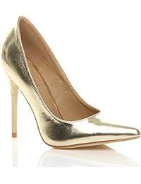 Donna tacco alto lavoro festa elegante scarpe de moda décolleté a ... 5592a99343c