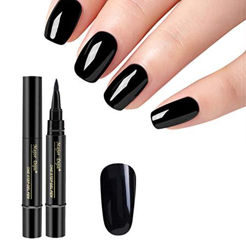 Nagellack,Förderung,PorLous2019 Frau Mode 1 Stück 3 In 1 Schritt Nagelgel Lacklack Pen One Step Nagel UV Gel verwenden Schnell Trocknend Dauerhaft 3