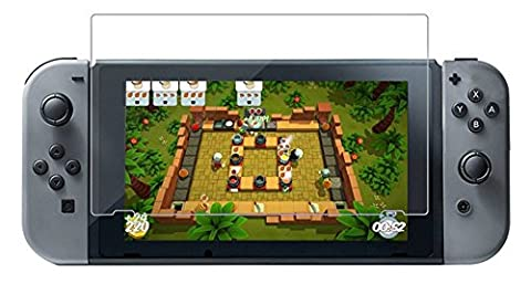 Nintendo Switch Displayschutzfolie, Stillshine Ultra Clear Anti-Scratch Full HD 9H Härte gehärtetes Glas Display Schutzfolie für Nintendo Switch NS Konsole (2er Pack)