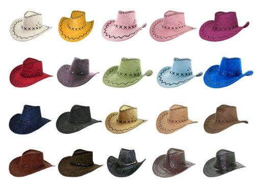 Hut Western Cowboy Kostüme (Cowboyhut braun Westernhut Texas Australien Hut für Erwachsene, Farbe:braun)