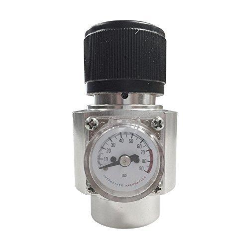 Preset Regulator (Interstate Pneumatics WRCO2L CO2 Regulator Aluminum Body 0-60 PSI with 3 Preset Settings 15PSI, 30PSI & 60PSI by Interstate Pneumatics)
