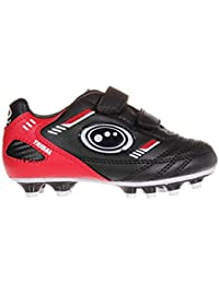 Optimum Tribal Velcro Moulded, Boys' Football Boots, Black (Black/Red)