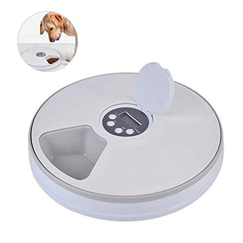 TWOBEE Mangiatoia automatica for animali domestici, 6 pasti Tempi automatici Mangiatoia for animali domestici for gatti Cani e conigli con timer digitale programmabile, distributore automatico di alim