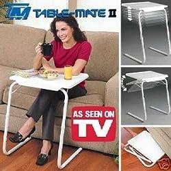 TOP Marques Collectibles New Table Mate LL tragbar, verstellbar, Zusammenklappbar Tisch, Lounge, Schlafzimmer-Möbel