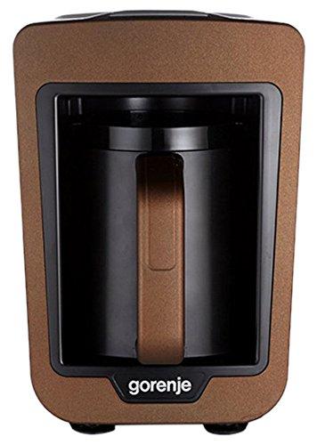 Gorenje ATCM730T Freistehend Vollautomatisch Türkische Kaffeemaschine 0.27l 4Tassen Schwarz, Braun - Kaffeemaschinen (Freistehend, Türkische Kaffeemaschine, Schwarz, Braun, Karaffe, Knöpfe, 0,27 l) - Braun Schwarz Karaffe