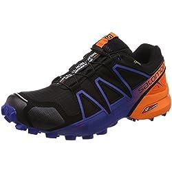 Salomon Speedcross 4 GTX LTD, Zapatillas de Trail Running para Hombre, Negro (Black/Scarlet Ibis/Surf The Web 000), 44 2/3 EU