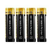 4 STÜCKE Hohe Kapazität 3,7 V 18650 2500 / 3500mah 20 / 10A Wiederaufladbare Lithium-Ionen-Batterie für LED-Taschenlampe-Scheinwerfer-Suchlampe