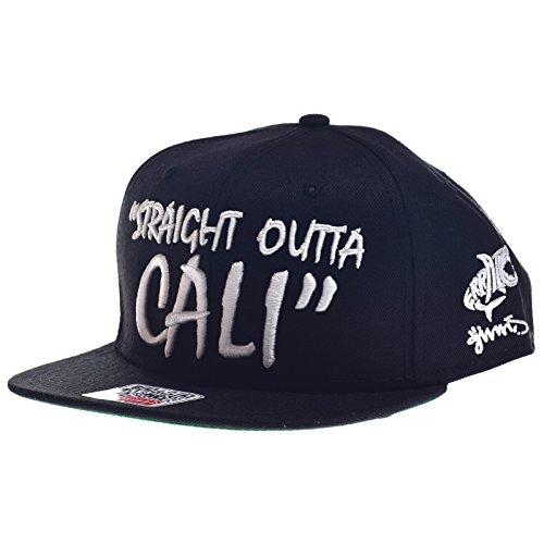 Casquette 6P Straight Snapback Djinns casquette hip hop snapback cap (taille unique - noir)