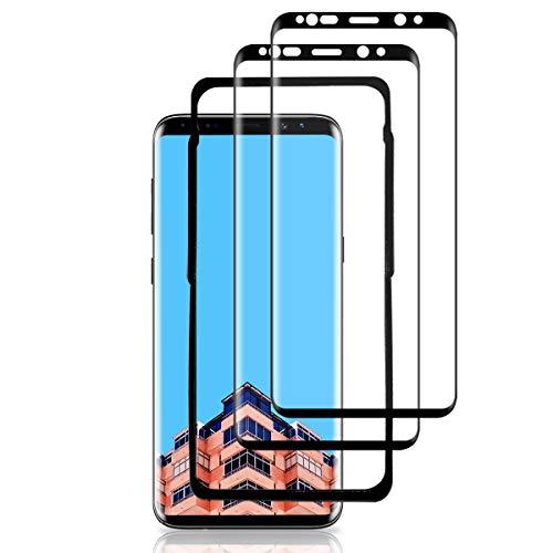SYARON S9 Plus Panzerglas(2 Pack) (mit Einbaupositionierer),S9 Plus Panzerglas 3D Vollständige Abdeckung/Easy Install Kit/Hüllenfreundlich Panzerglas Schutzfolie für Samsung Galaxy S9 Plus
