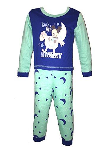 Disney Mädchen Jungen Kids Kinder Minnie Mickey Mouse Schlafanzug Nachtwäsche Baby Kleinkinder Größe 6–24Monate Gr. 86, Mickey Mouse -