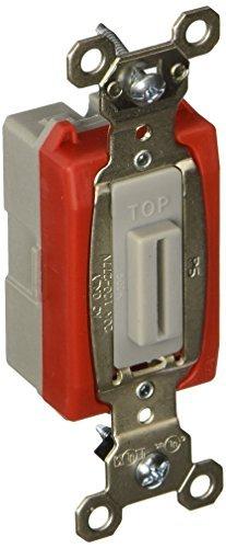 PASS & SEYMOUR PS20AC1L Heavy Duty Keyed Single Pole Toggle Switch, 20-Amp, Grey by Pass & Seymour - 20a Toggle