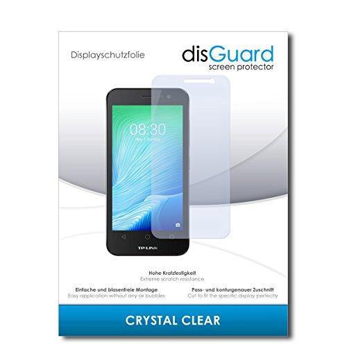 disGuard® Bildschirmschutzfolie [Crystal Clear] kompatibel mit TP-Link Neffos Y50 [4 Stück] Kristallklar, Transparent, Unsichtbar, Extrem Kratzfest, Anti-Fingerabdruck - Panzerglas Folie, Schutzfolie
