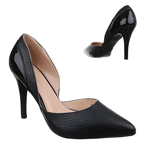 Damen Schuhe, 53000, PUMPS HIGH HEELS STILETTO Schwarz