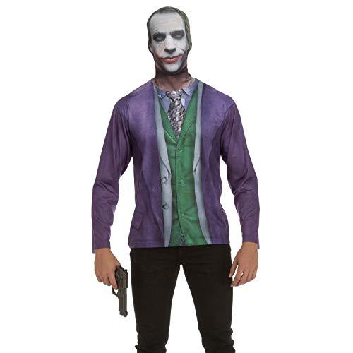 viving Kostüme viving costumes231205Joker Herren Lange Ärmel T-Shirt ()