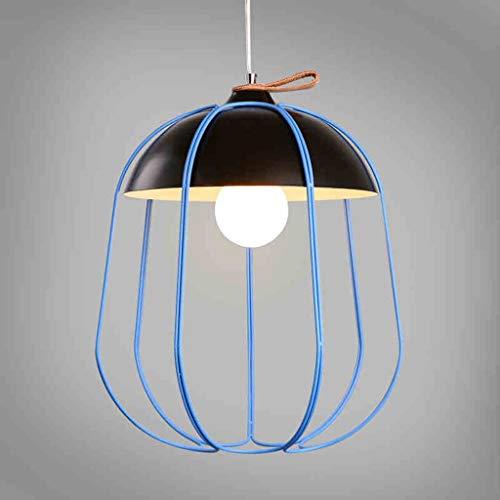 GWFVA Moderne minimalistische Wohnzimmer Kronleuchter Esszimmer Kronleuchter Nordic Angelschnur Persönlichkeit Vogelkäfig Anhänger LED Single Head Indoor Kronleuchter (Farbe: A)