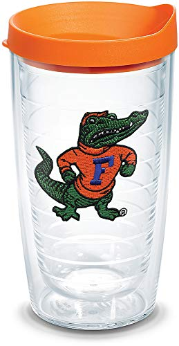 Tervis 1084963 Florida University Gator Body Emblem Individual Tumbler with Orange Lid, 16 oz, Clear by Tervis -