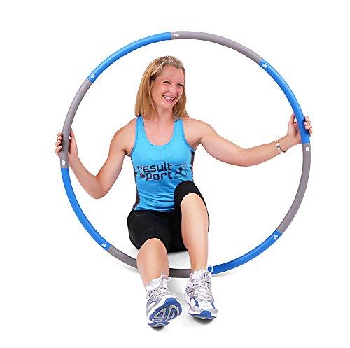 Resultsport schaumgepolsterter Level-3-Hula-Hoop-Reifen für Fitnessübungen, mit 2 kg Gewicht und 1