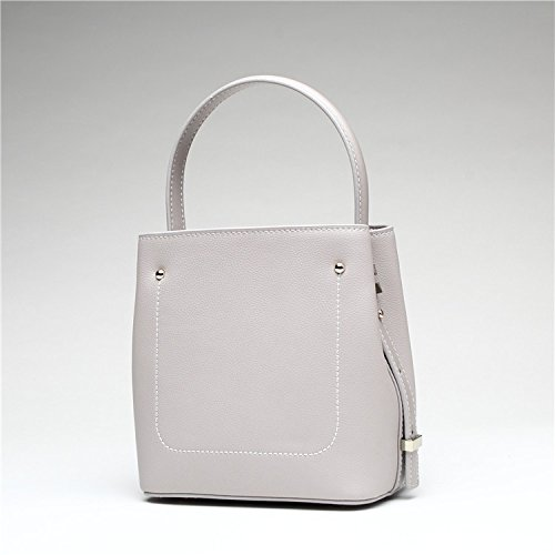 Sandy Cowper Evening Bag Bolso de Mano Tote Joker, Bolso de Mano, Asas Simple, Diagonal, Cubo, Bolso, convenientes, Cita, Trabajo Espera (Color : Gris Claro, tamaño : S)