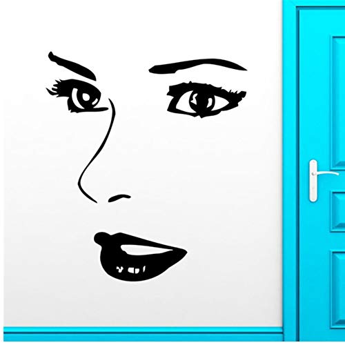Lovemq Wandaufkleber Vinyl Wandtattoo Hot 36 * 57 Cm Mädchen Augen Lippen Schönheitssalon Make-Up Wandbild Kunst Wandaufkleber Salon Schlafzimmer Dekoration - Neue Großhandel Make-up