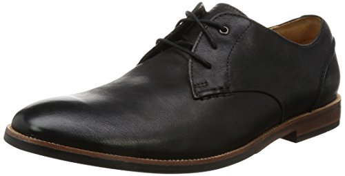 Clarks Broyd Walk, Derby Homme Noir (Black Leather)