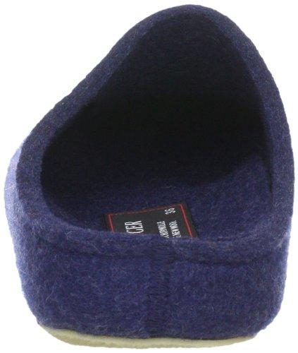 Haflinger Michl Grizzly, Chaussons mixte adulte Bleu (Bleu-TR-H4-185)