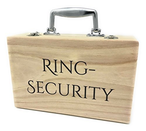 KATINGA Holzkoffer Ring Security - Perfekter Auftritt für Ihre Trauringe/Ringkissen bei der Hochzeit