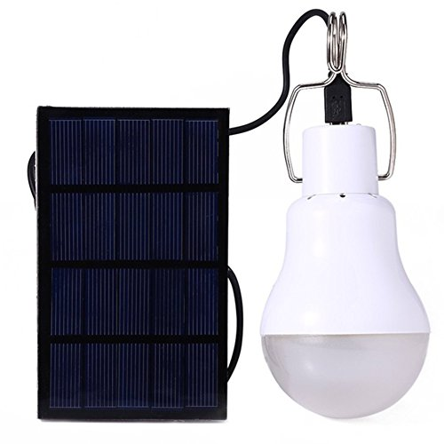 Solar-Außenleuchte, Solar-Energiekugel-Lampe, hohe Licht, tragbare LED-Lampe, aufgeladene Solarenergie, für Outdoor, Camping, Zelt, Angeln, Wandern, weiß
