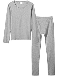 Gaga city Kids Long Sleeve Base Layer Boys Girls Compression Sport Thermal Underwear Top+Bottom Fitness Set