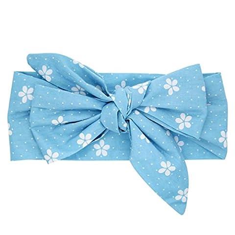 Bandeau Bébé Clode® Bandeau bébé oreilles de lapin tissu élastique Bowknot (a)