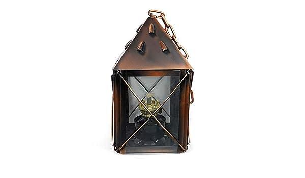 E27 Antike Kerzenst/änder Laterne Dekorative Innenau/ßenbeleuchtung CUIRUILIAN Retro Nostalgische Glas Kerosin-Lampe Camping Notlicht /Öllampe Laterne