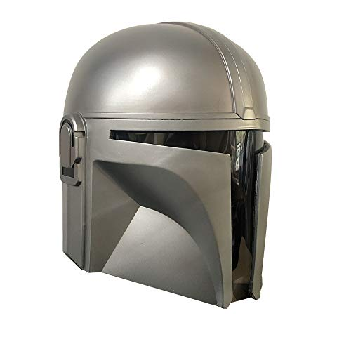 XFei Mandalorian Helmet The Wars Full Head Mask Disfraz de Cosplay para Adulto, Star Boba Fett Deluxe Teens Helmet para Halloween Cosplay Prop Dress Up Soft PVC Helmet