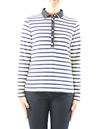 Saint James Shirt Ecru / Marine 8935 Bordeaux