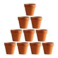 BESTOMZ 10 Pcs Mini Clay Pots 2