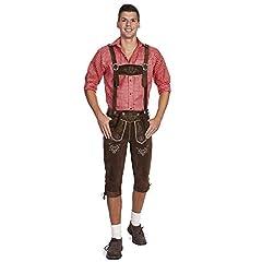 Idea Regalo - Gaudi-Leathers E100, Pantaloni In Pelle, Tradizionali Uomo, Braun (Dunkelbraun 015), 52