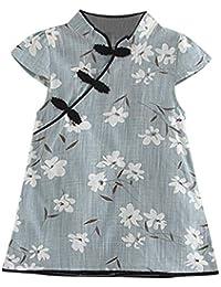 Ropa Bebe Niña K-Youth Vestido de Flores para Niñas Verano Cheongsam Recien Nacido 1-5 años Casual Vestido de Princesa Fiesta Bautizo…
