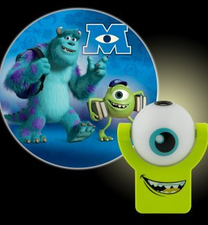 Childrens Projectable Monster University Inc Sully And Mike Automatic Nightlight