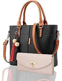 Fargo Flames PU Leather Women's Handbag With Hand Clutch Combo Of 2 (Multi_FGO-186)