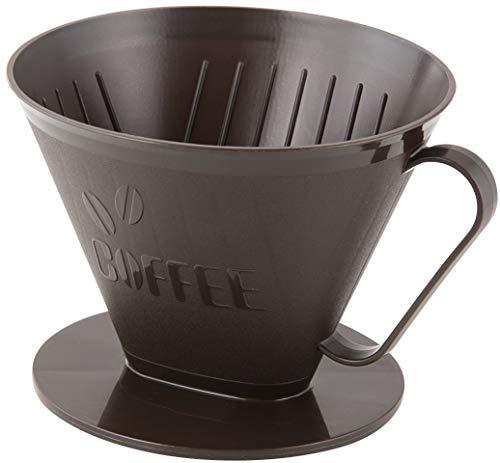 Fackelmann Filterbehälter Nr. 4, Filterhalter, Kaffeefilter für bis zu 4 Tassen, Handfilter (Farbe: Braun), Menge: 1 Stück