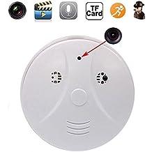 tensky 1080P HD Cámara Espía Oculta DVR Detector de humo seguridad niñera videocámara detección de movimiento con mando a distancia